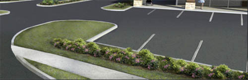 strip mall landscaping