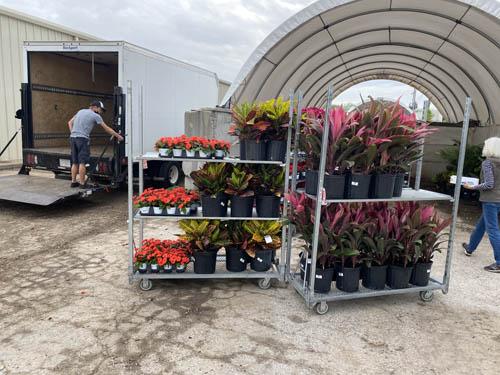 Pinnacle crew unloading annuals