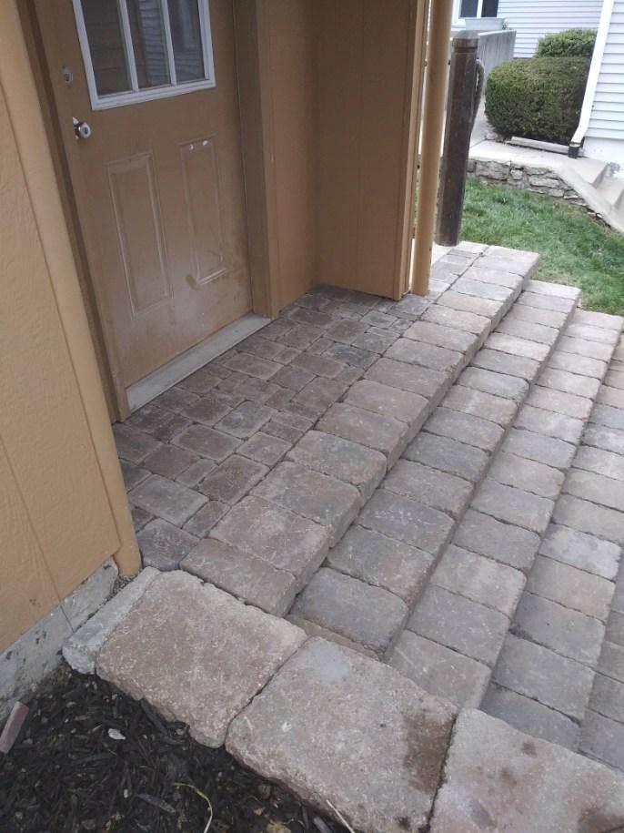 brick stairs and walkway