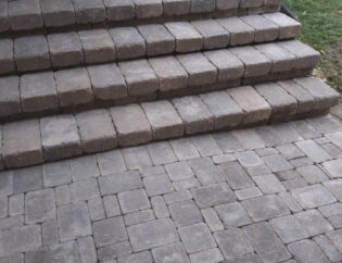brick walkway and stairs brick stairs