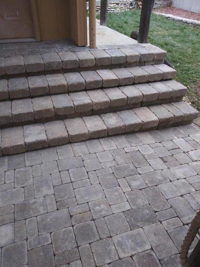 brick walkway and stairs brick stairs